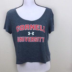 Cornell University Crop Top Medium